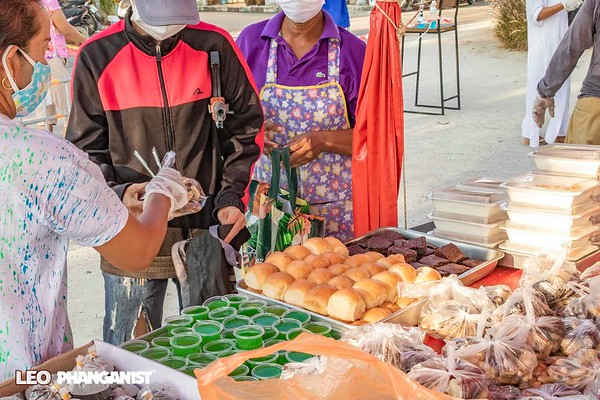Daily Free Food Distribution by Signature in Thong Sala - 21 April 2020
